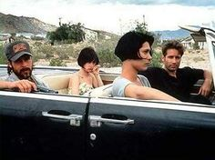 Brad Pitt, Juliette Lewis, Michelle Forbes, and David Duchovny go for a ride in… Guess The Movie, Be With You Movie, Love Movie, Brad Pitt, Michelle Forbes, Lights Camera Action, David Duchovny, Great Films, Top Movies