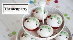 Passend für jeden Kindergeburtstag: Kleine Raupe Nimmersatt Muffins! Das Rezept und Ideen für eine Themenparty findet ihr hier.