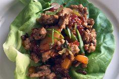 Pork Lettuce Wraps with Thai Sweet Chili Sauce