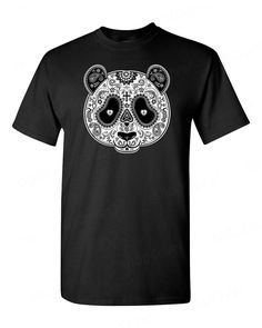 Sugar Skull PANDA Day of the Dead T-SHIRT los muertos Mexican Gothic men's tee - http://bestsellerlist.co.uk/sugar-skull-panda-day-of-the-dead-t-shirt-los-muertos-mexican-gothic-mens-tee/