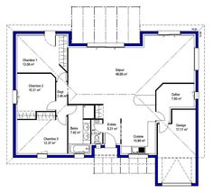 1000 images about plan de maison on pinterest house plans modern house plans and floor plans. Black Bedroom Furniture Sets. Home Design Ideas