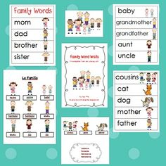 Adventures in Kindergarten: Family Word Walls