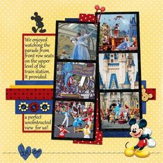 disney scrapbook layouts images - Google Search