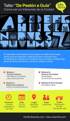 Graphic Design projects for Urbanimia, two girls dedicated to make guided tours in Caracas, Venezuela.