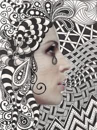 photo + zentangle collage  melancholy (banar)