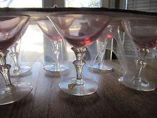 NEW SET 6 TIFFIN WISTERIA CHAMPAGNE/SHERBET GOBLETS/GLASSES - ORIGINAL PACKAGING