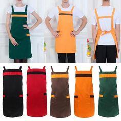 Moda-masculina-feminina-Chefs-De-Cozinha-Restaurante-Cafe-trabalho-Algodao-Bolso-Aventais