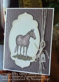 Offset horse by inkpad - Cards and Paper Crafts at Splitcoaststampers