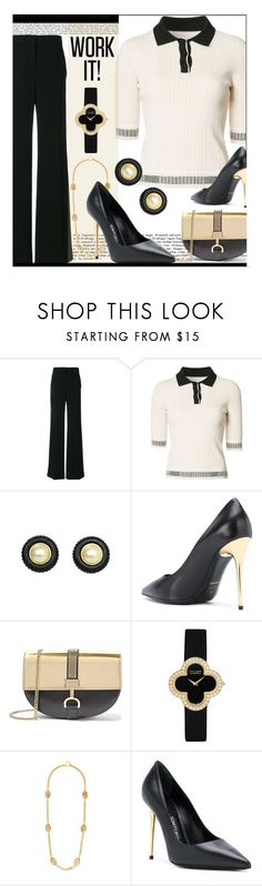 """What's Your Power Look?"" by tiffanysblues ❤ liked on Polyvore featuring Alberta Ferretti, Misha Nonoo, Lanvin, Van Cleef & Arpels, Tom Ford and MyPowerLook"