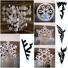 How to make Snowflake Paper Pattern step by step DIY tutorial instructions, How to, how to do, diy instructions, crafts, do it yourself, diy website, art project ideas