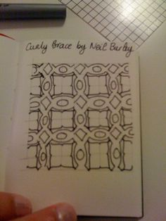 """""""Curly Brace"""" ~ this can easily be recreated without any kind of grid"""