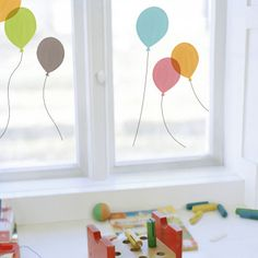 Balloons (Window Stickers).