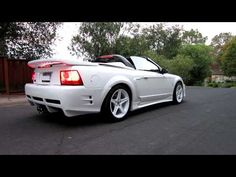 99 Ford Mustang SVT Cobra Convertible - Supercharged - drive by, rev @ RPM. Saleen kit, dyno - at a conservative Paxton Novi Mustang 2000, Sn95 Mustang, New Edge Mustang, Saleen Mustang, Ford Mustangs, Ford Svt, Lowrider Trucks, Vintage Mustang, Sport Cars