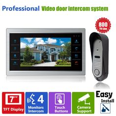 """112.31$  Watch now - http://alio80.worldwells.pw/go.php?t=32411352701 - """"Homefong 7"""""""" LCD Video Door Phone Intercom Door Bell Camera 800TVL Home Security  Door Panel Monitoring System"""" 112.31$"""