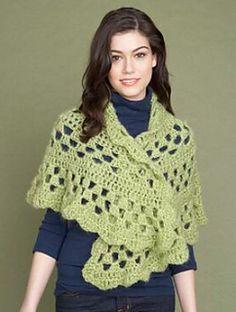 Lion Brand Pattern #: 60831A Half moon shawl