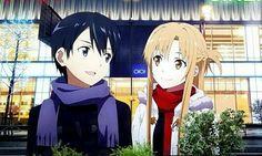 Kirito and Asuna Kirito Asuna, Arte Online, Online Art, All Anime, Manga Anime, Tous Les Anime, Sword Art Online Kirito, Online Anime, Character Wallpaper