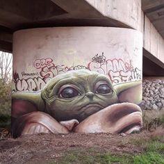Street art yoda graffiti, it is - nimivo sites Graffiti Art, Street Art Banksy, Graffiti Tumblr, Street Art Utopia, Graffiti Quotes, Urban Street Art, Urban Art, Photographie Street Art, 3d Art