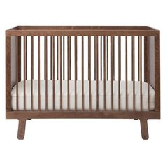 Sparrow Modern Classic Ouef Crib - Walnut | Kathy Kuo Home