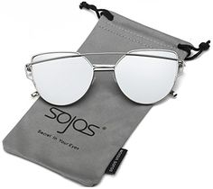 SojoS Cat Eye Mirrored Flat Lenses Street Fashion Metal - http://freebiefresh.com/sojos-cat-eye-mirrored-flat-lenses-review/