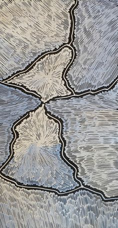 """Lightning""  Sarrita King...aboriginal art, wonderful for a rug"