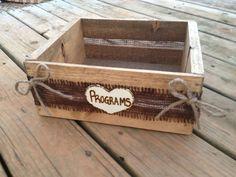 Rustic Program Box  Card Box  Rustic Wedding  by CountryBarnBabe, $35.00
