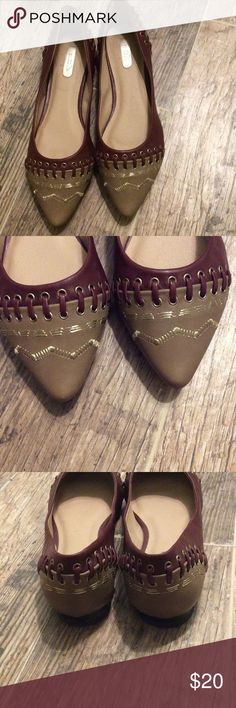 Avon Mark flats Trendy and in great at condition. Gorgeous detail. Worn a few times as they are too big for me. Avon Mark Shoes Flats & Loafers