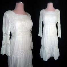 White Cotton and Lace Folk Mexican Wedding by localovespirate, $65.00