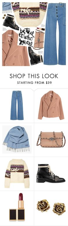 """be true to who you are"" by valentino-lover ❤ liked on Polyvore featuring Rejina Pyo, H&M, Faribault Woolen Mill Co., Valentino, Étoile Isabel Marant, Gucci, Tom Ford and Tiffany & Co."