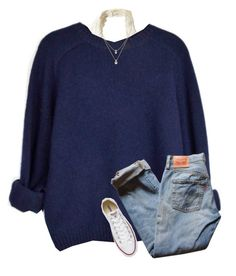 """""""{comment your go to outfit for a follow if I'm not already following you}"""" by southerngirl03 ❤ liked on Polyvore featuring Hollister Co., Kate Spade, Levi's and Converse"""