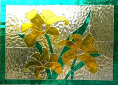 Unleaded stained glass - Bonded (glass to glass) for Windows, Panels, Lamps