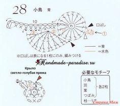 Схема вязания лукошка для птички (на фото под номером 30) Источник: Handmade-Paradise.ru