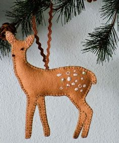 I have a dream to own a cabin in the woods someday. Until then, I make felt ornaments that look like the woods.This is my second (2009) collection of ornament p