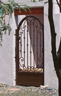Tuscan Metal Garden Gates, Garden Fences, Metal Gates, Garden Doors, Iron Gates, Tuscan Courtyard, Courtyard Design, Tuscan Design, Tuscan Style