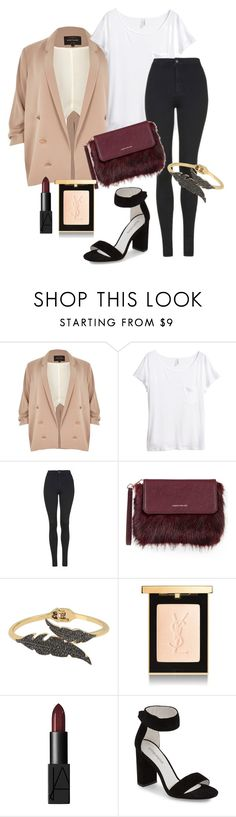 """night outfit three"" by emma-495 on Polyvore featuring River Island, H&M, Topshop, Karen Millen, Betsey Johnson, NARS Cosmetics and Jeffrey Campbell"