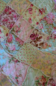 Shabby Chic French Country Rag Quilt