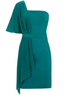 OASIS green scarf one shoulder summer wedding / races / occasion dress size 14