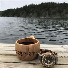 Time for coffee. Zelos Hammerhead Bronze Meteorite. Canvas Strap. Runes. Futhark.