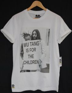 Actual Fact Wu Tang Is For The Children ODB & John Lennon Hip Hop Tee T-Shirt: Amazon.co.uk: Clothing