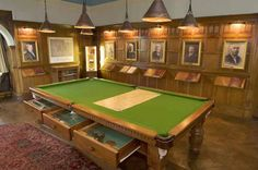 Bantock House Museum, the Billiard room