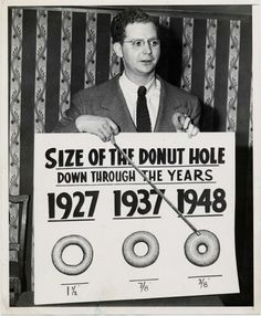 Funny pictures about Size Of The Donut Hole Through The Years. Oh, and cool pics about Size Of The Donut Hole Through The Years. Also, Size Of The Donut Hole Through The Years photos. University Of Michigan, Jimi Hendrix, Einstein, National Donut Day, Donut Holes, Breakfast Of Champions, Laugh At Yourself, All About Eyes, Funny Photos
