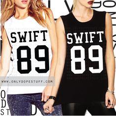 Taylor Swift 1989 Shirt Jersey Muscle Tee by OnlyDopeStuff