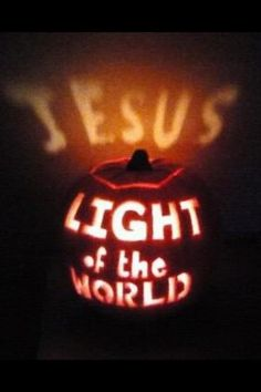 #JesusSaves Light of the World Christian Pumpkin