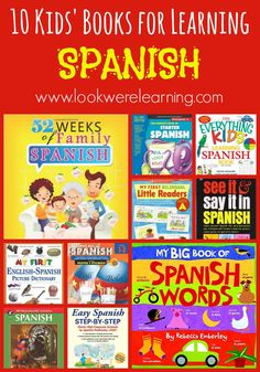 Use these Spanish books for kids to teach children basic Spanish vocabulary, including objects, days of the week, colors, and more!