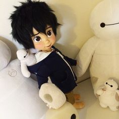 hiro hamada disney animator doll with baymax