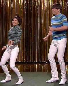 Jennifer Lopez, Jimmy Fallon Dance in Tight Pants, Bowl Haircuts on Tonight Show: Watch Now!