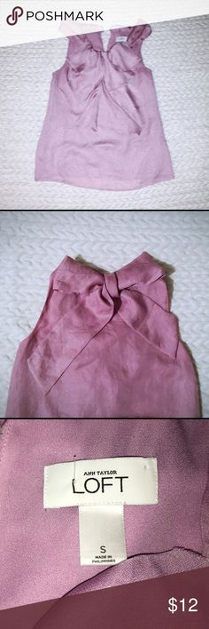 Summer blouse Perfect condition! Lavender summer blouse with tie neck. Size small- fits true to size LOFT Tops Blouses