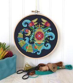 The passionate and mysterious Scorpio in your life will love this vibrant depiction of the fierce scorpion! This pattern is an instant download PDF, so you can start stitching right away. Also available as a print version (with free US shipping) here: http://etsy.me/2Ev1agI Pattern PDF