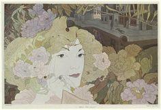Georges De Feure 1900 by Art & Vintage, via Flickr idea for my next fabric!