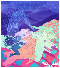 amazing princess mononoke art