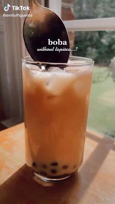 Fun Baking Recipes, Tea Recipes, Coffee Recipes, Smoothie Recipes, Cooking Recipes, Smoothies, Boba Tea Recipe, Yummy Drinks, Yummy Food